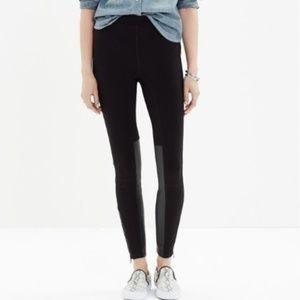 Madewell | Panel Ponte Pants Faux Leather Leggings